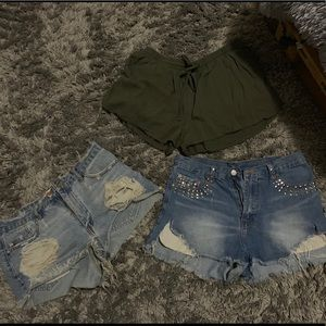Destroyed Ripped Jean Shorts Bundle